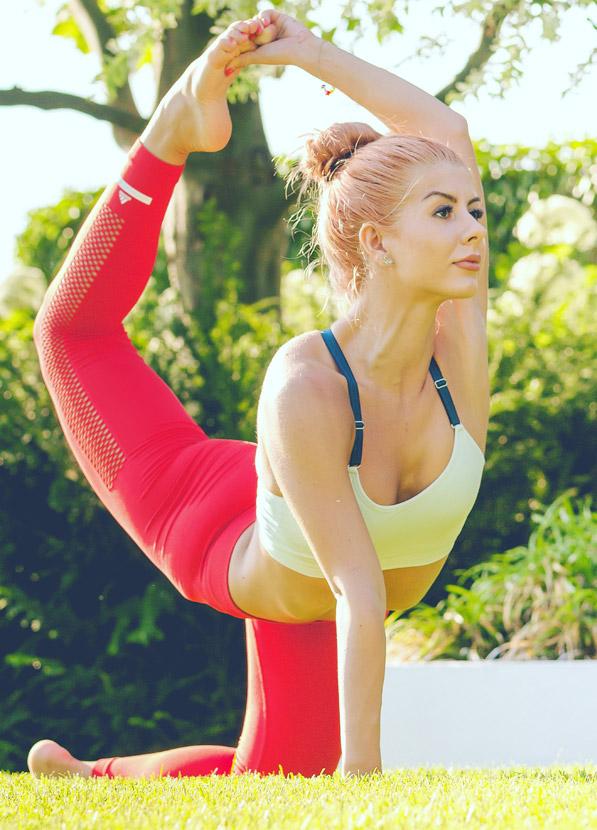 Ana Marin Doing Yoga